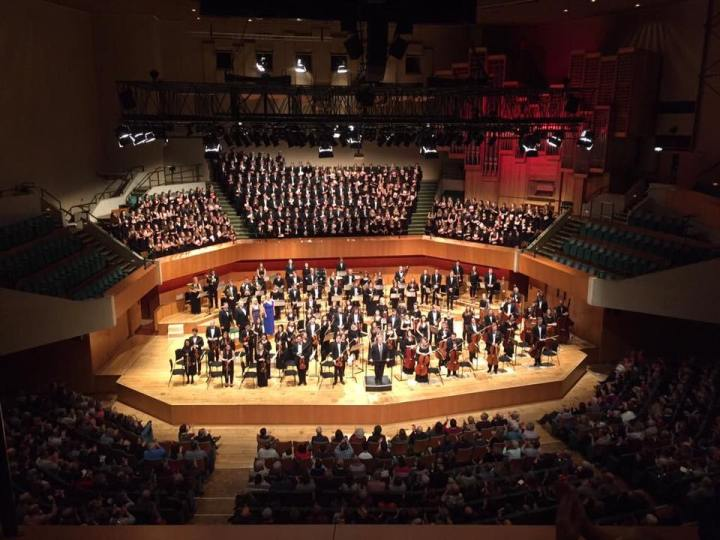 Royal Welsh College of Music and Drama Symphony Orchestra, Carlo Rizzi, Beethoven 9 Performance, St David's Hall, Cardiff